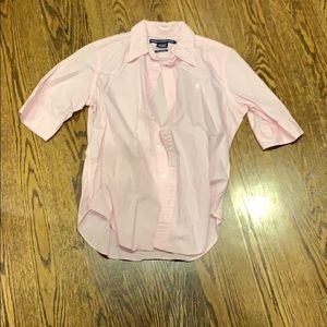 Pink 3/4 sleeves button up